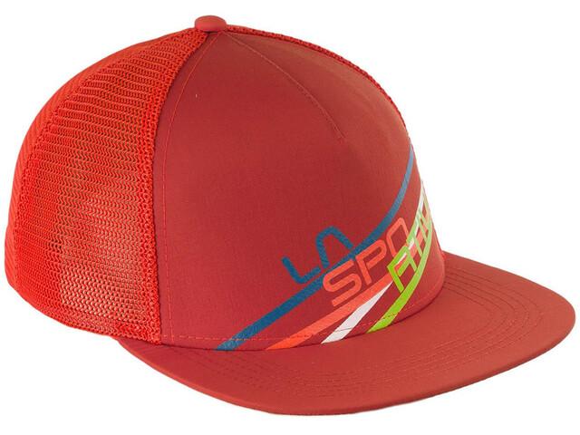 a2bd47e7 La Sportiva Stripe 2.0 Trucker Hat Flame/Brick - addnature.com
